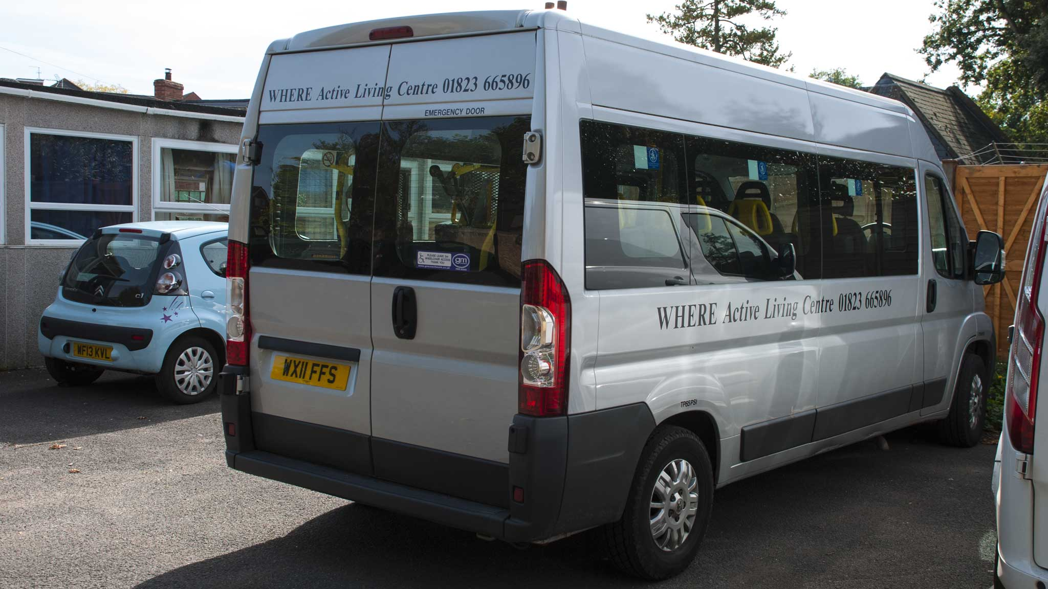 mini bus for trips and outings WHERE in Wellington Somerset